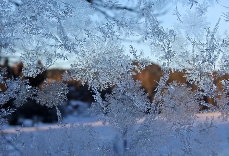 A peak through a frosty window