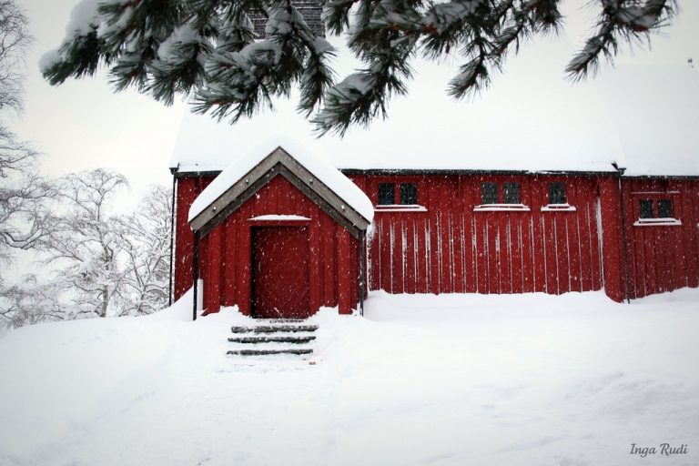 Lo Church covered in snow