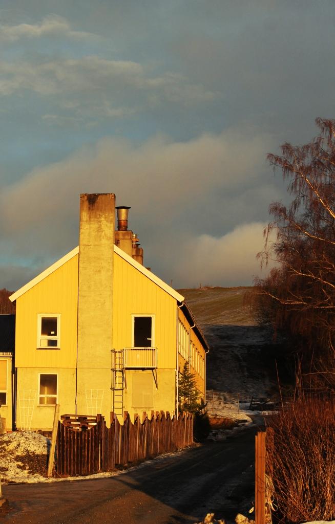 old building in December sun