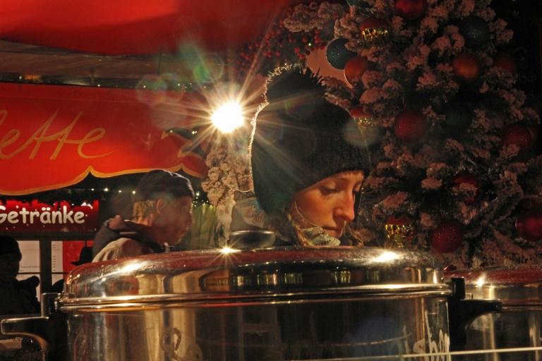 Woman selling glühwein