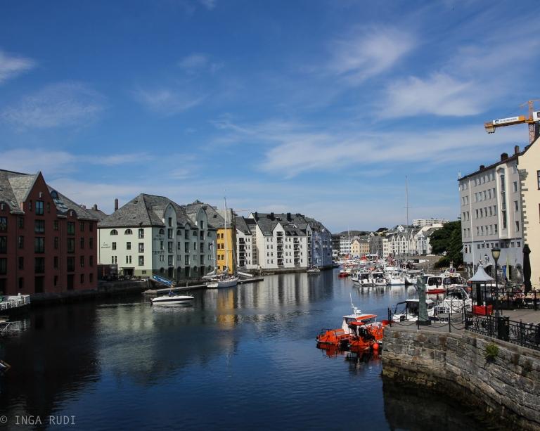 the canal Ålesund
