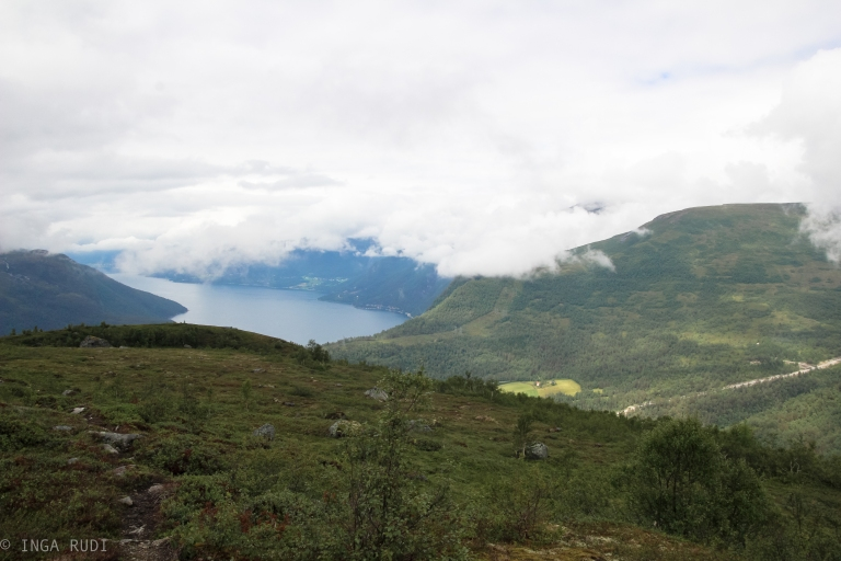 view Eresfjord from the mountains
