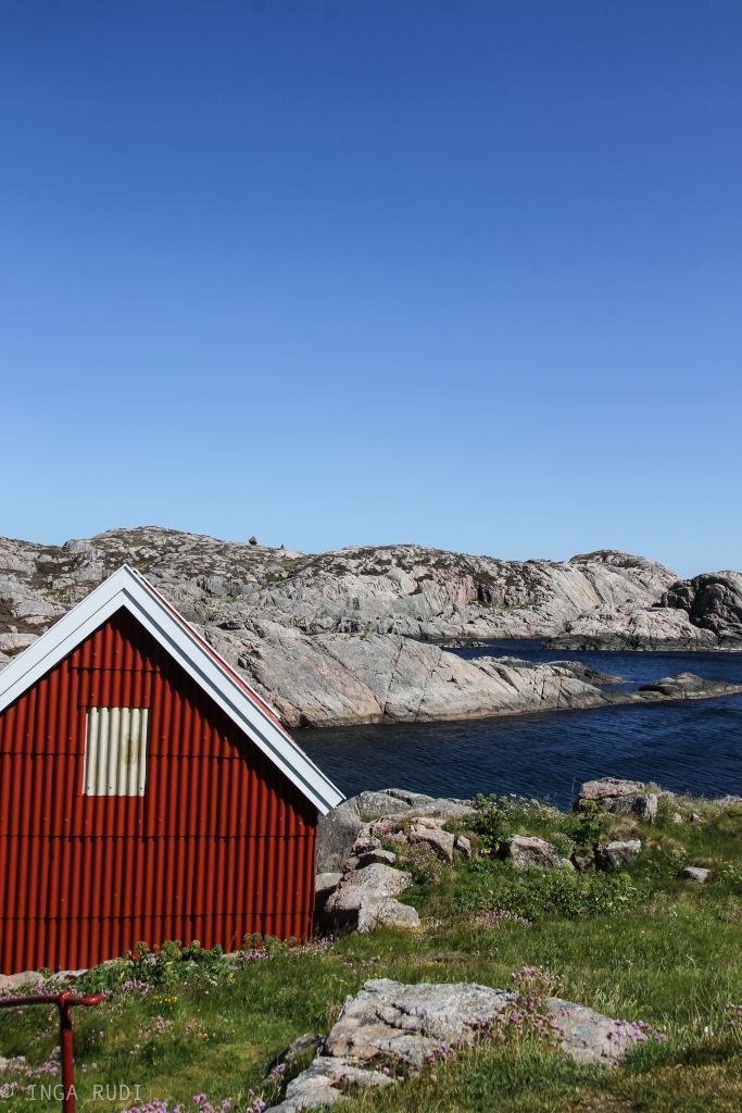 red house by Lindesnes