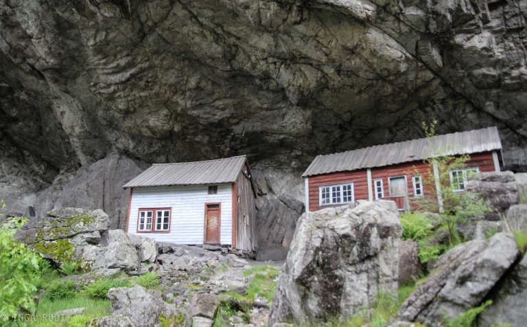 the houses under the rock